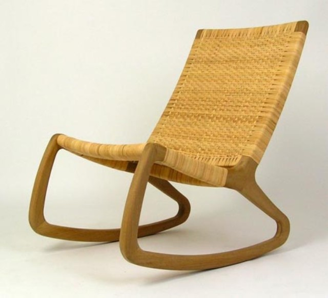 Exceptional Back And Side View Of Modern Rocking Chair ...
