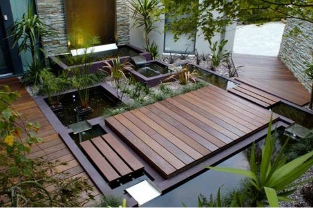 House Landscape Pictures garden design: garden design with beautiful and functional house
