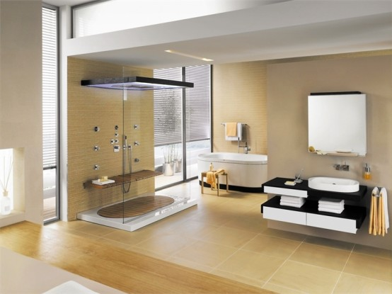 Splashy Bathrooms For the Modern Home | Visual Remodeling Blog | Fixr